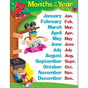 Months Of The Year Blockstars Learning Chart Trend Enterprises Inc  T