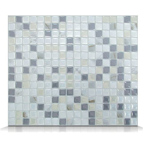 white peel and stick tile smart tiles mosaik minimo noche 11 55 quot x 9 64 quot peel