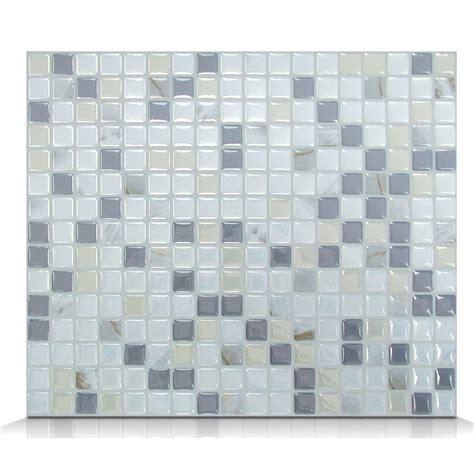 Smart Tiles Mosaik White And Gray by Smart Tiles Mosaik Minimo Noche 11 55 Quot X 9 64 Quot Peel