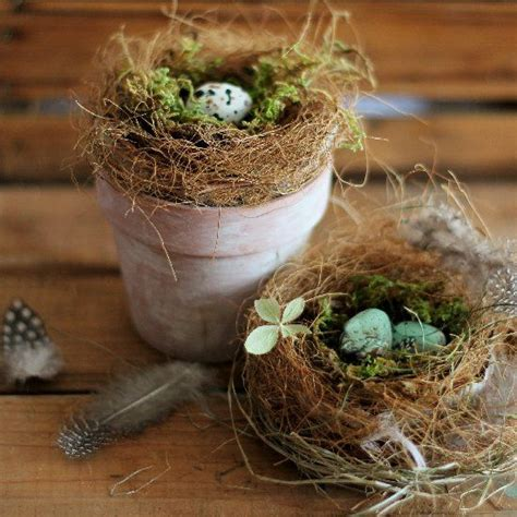 easy diy bird nest decorations   beautiful easter