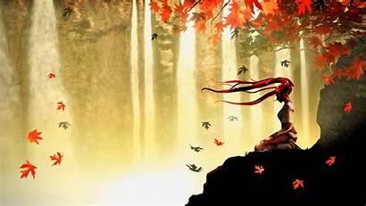Autumn Anime Meditation Widescreen 1920 1080