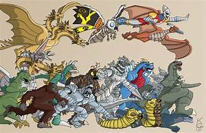 Godzilla Monsters Attack by KevinGentilcore on DeviantArt