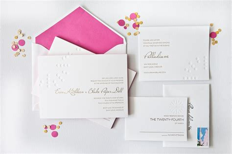 simple elegant foil sted wedding invitations white gold