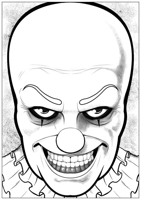 halloween pennywise  halloween adult coloring pages