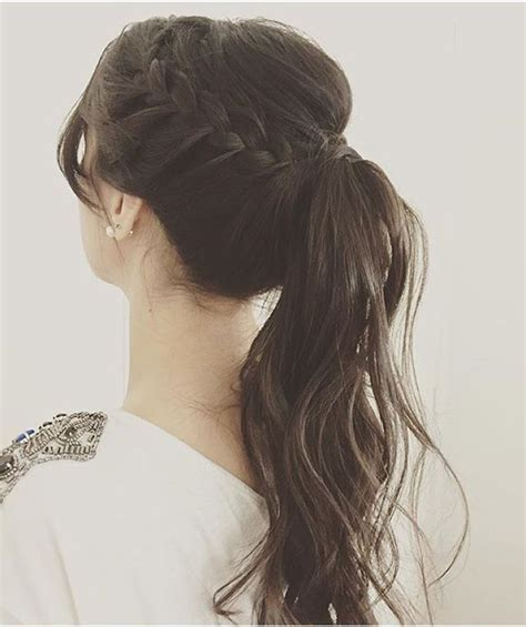 Long Hair Pony Tail With Braids Hair Ideas To Copy Now