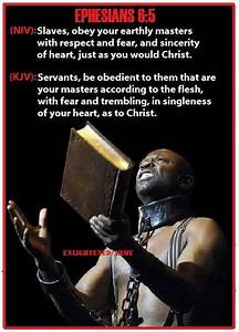 Biblical Verses... Black Slave Quotes