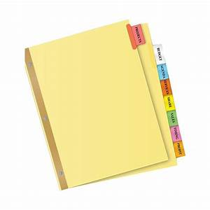 avery 11111 big tab insertable dividers 8 1 2 x 11quot 8 With avery 8 big tabs insertable template
