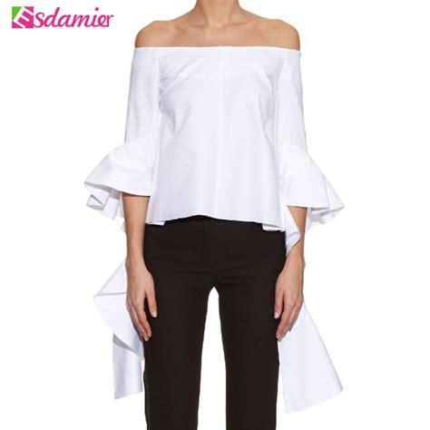 blouses for sale sale fashion ruffles sleeve blouse black white