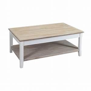 Table Basse Rectangulaire Bois : table basse bois blanc table de lit ~ Teatrodelosmanantiales.com Idées de Décoration