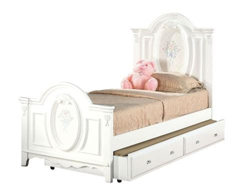 acme 01680t flora panel bed twin white finish hsdfkjxgk