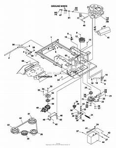 Bunton  Bobcat  Ryan 742280 Jacobsen Z-fastcat Es-17 5 Hp 48 Sd Parts Diagram For Frame