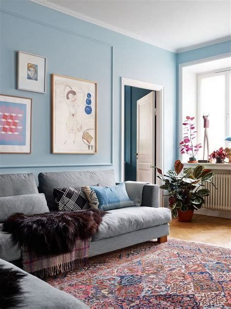 wall color for blue rug pretty living room colors for inspiration hative