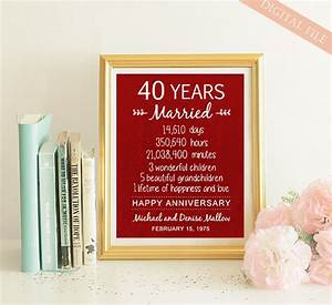 40th anniversary gift 40 years wedding anniversary for 40 year wedding anniversary gift
