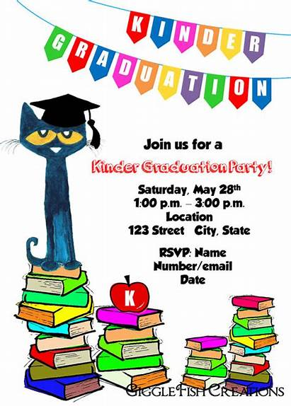 Graduation Pete Cat Clipart Kindergarten Party Pre