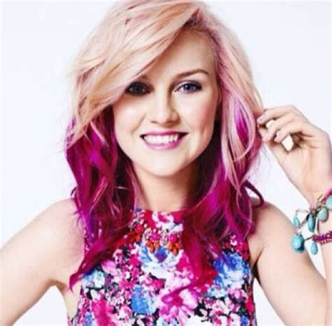 Perrie Edwards Pink Ombré Hair Braids Twists And Curls