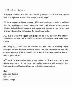 Nursing Letter Of Recommendation