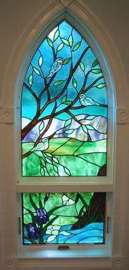 custom stained glassbevel window  krysia designs