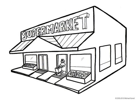 market colors market clipart black and white pencil and in color
