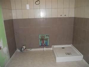 Carrelage De Douche : pose carrelage fa ence bac de douche du studio ~ Melissatoandfro.com Idées de Décoration