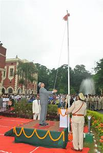 Flag, Hoisting, Ceremony, On, Independence, Day, 15th, August