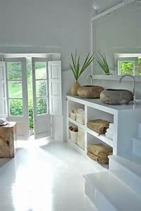 comment creer une salle de bain zen With idee salle de bain couleur