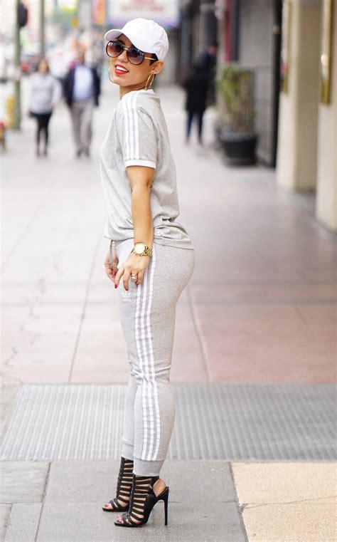 track suit  heels mimi  style
