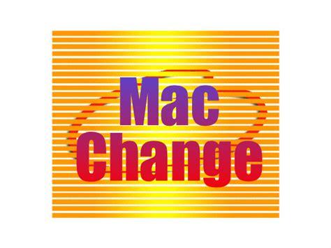 Amac Address Change by A Mac Address Change V5 4