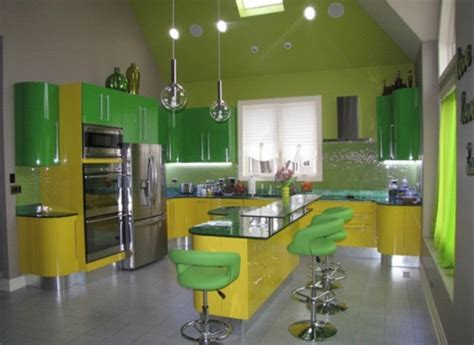 and yellow kitchen ideas picture of cheerful summer interiors green and yellow
