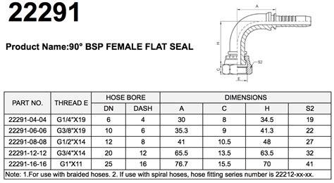 22291 90° Bsp Female Flat Seal Pipe Fittings Manufacturer