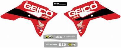Geico Honda Kits Graphic Cor Dirt Kit