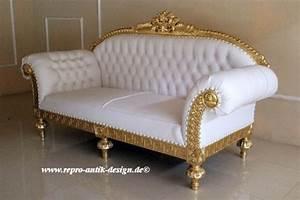 Barock Sofa Weiß : barock sofa 3 sitzer queenera rz gold wei sofas sofas sessel chaiselongue shop repro ~ Frokenaadalensverden.com Haus und Dekorationen