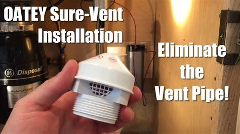 oatey  vent installation eliminate  vent pipe