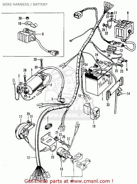 honda cbs   usa wire harness battery buy wire