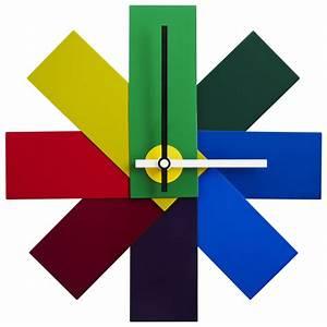 Watch, Me, Wall, Wall, Clock, Multicoloured, By, Normann, Copenhagen