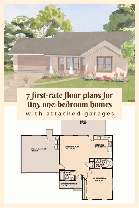 rate floor plans  tiny  bedroom homes  attached garages floor plans