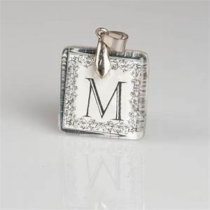 1000 images about quotmquot jewelry on pinterest brooches With ribbon letter monogram necklace