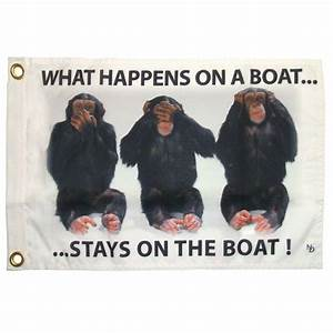 Multinautic 12 in x 18 in Stays on Boat Funny Flag-35703