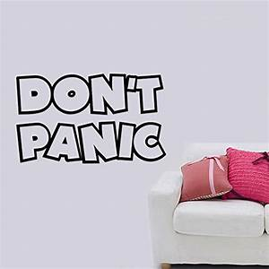 don39t panic hitchhikers guide galaxy removable wall With what kind of paint to use on kitchen cabinets for car bumber stickers