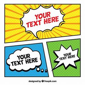 nice comic template vector free download With comic strip powerpoint template
