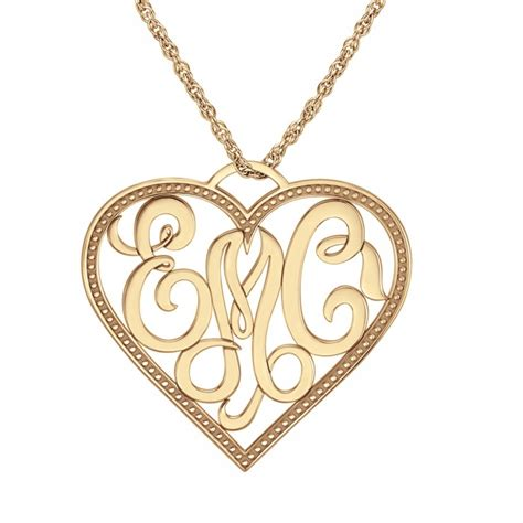 personalized monogram heart pendant xmm personalized jewelry