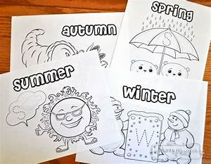 Preschool Four Seasons Coloring Pages