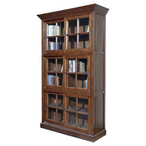 solid wood bookshelf furniture classics single stack sliding door solid oak