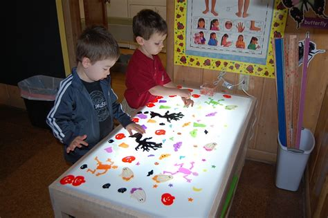 table activities for preschoolers our new light table little pandas playschool