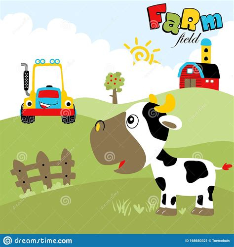 Animal farm is a book in which every character has a purpose and relevant symbolism for orwell's purpose: Funny Farm Field Animal, Tractor, Barn At Summer, Vector ...