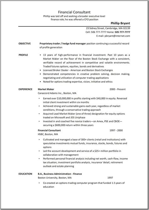 business consultant job description resume sample resume