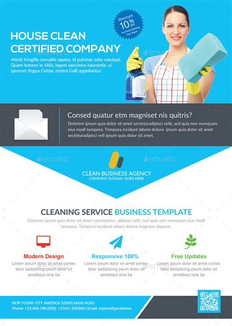 printable house cleaning flyers templates sample