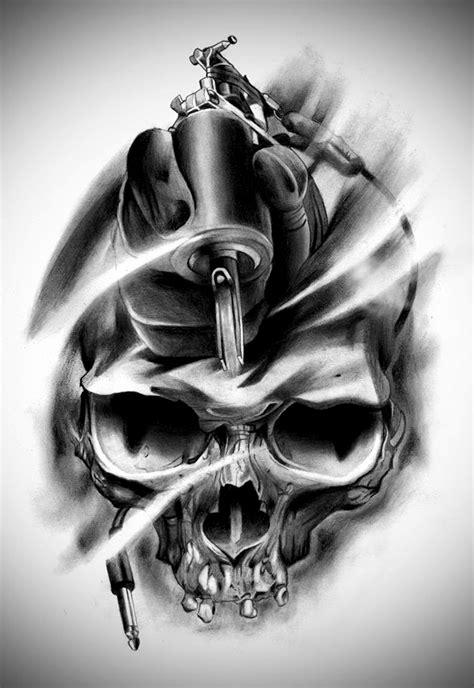 Black And Grey Skull Drawings  Wwwpixsharkcom Images