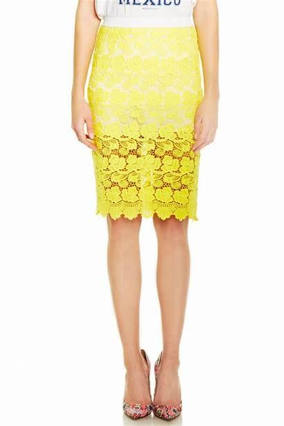Skirt Yellow Pencil Minkoff Angelica Rebecca Skirts
