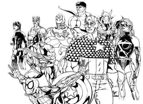 Les Beaux Dessins De Super Héros à