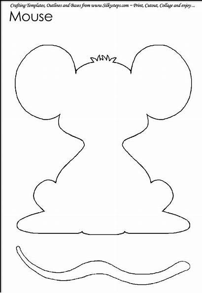 Mouse Craft Crafts Template Templates Moldes Outline
